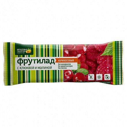 Фрутилад Батончик фруктовый с клюквой и малиной 30г/24шт