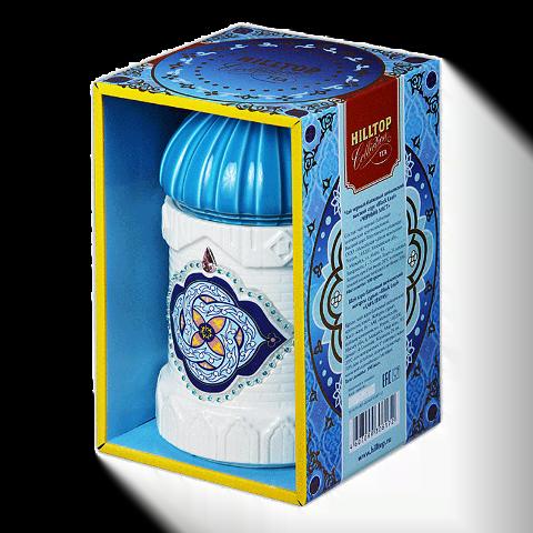 Чай Хилтоп Керамическая чайница + Чай Черный лист