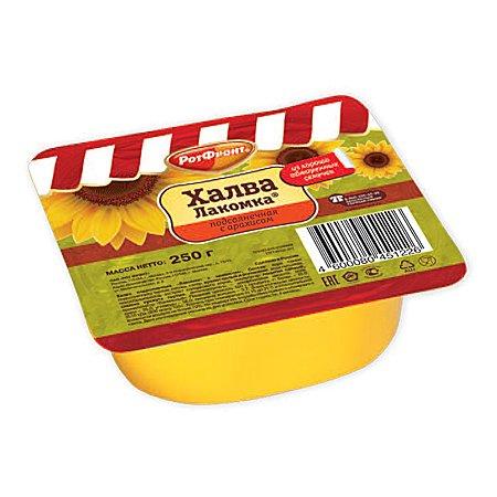 """Халва """"Лакомка"""" подсолнечная с арахисом 250 гр."""
