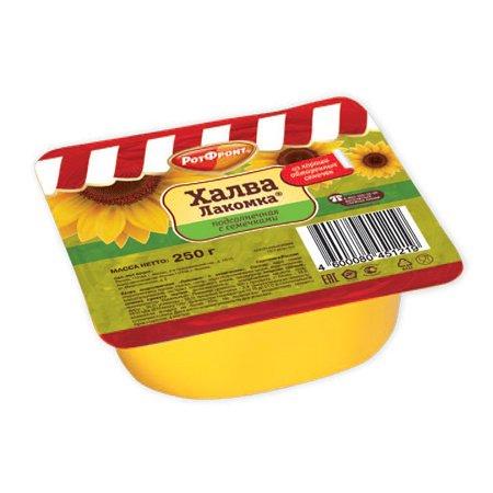 """Халва """"Лакомка"""" подсолнечная с семечками 250 гр."""