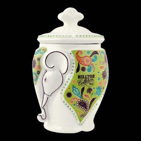 Чай Хилтоп Керамическая чайница + Чай Жасминовый