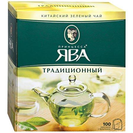Чай Принцесса Ява зелёный традиционный 100 пак