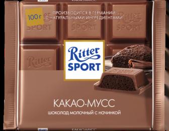 Шоколад Риттер Спорт Какао-мусс