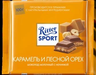 Шоколад Риттер Спорт Карамель, орех