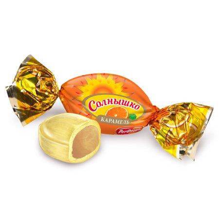"""Карамель """"Солнышко"""" со вкусом апельсина, весовые ШФН 1 кг."""