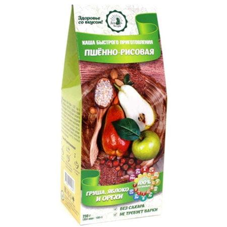 Каша Пшённо-рисовая с грушей, яблоком и орехами 250 г