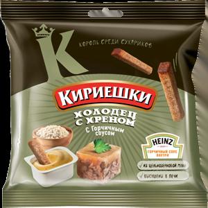 """Сухарики """"Кириешки"""" холодец с хреном/горчица «Heinz»"""