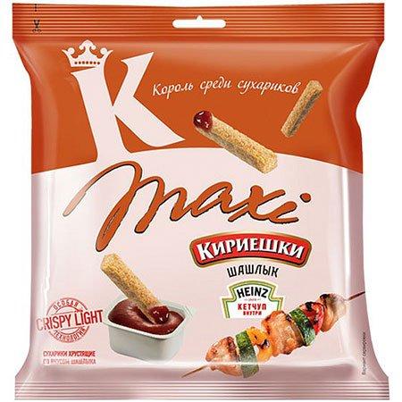 Сухарики «Кириешки Maxi» Шашлык/Кетчуп 50г.+25мл.