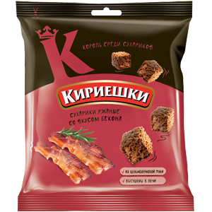 Сухарики «Кириешки» со вкусом бекона 100гр.