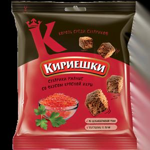 """Сухарики """"Кириешки"""" со вкусом красной икры 40гр."""