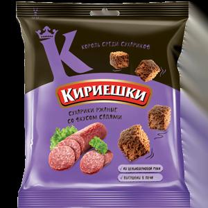 """Сухарики """"Кириешки"""" со вкусом салями 40гр."""