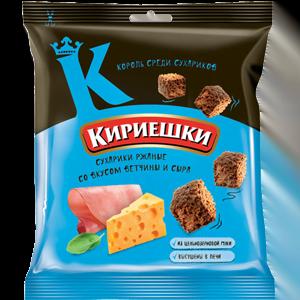 """Сухарики """"Кириешки"""" со вкусом ветчины с сыром 40гр."""
