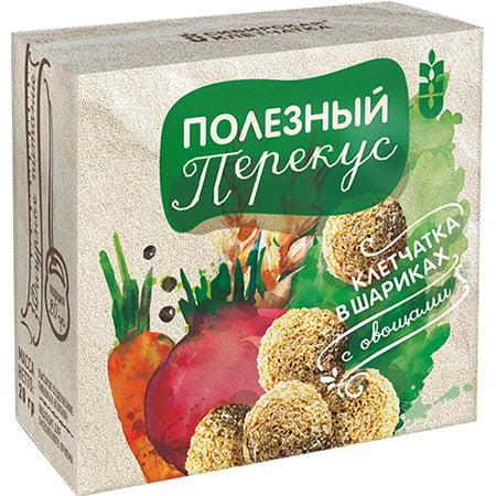 Диа-Веста Клетчатка в шариках с овощами злаковый продукт, 20гр/24шт