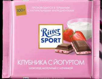 Шоколад Риттер Спорт с клубничным йогуртом