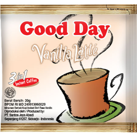 Кофейный напиток Good Day (Гуд Дей) Vanilla Latte 3в1