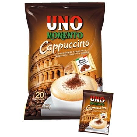 Кофе Uno Momento Капучино с шоколадной крошкой, 20пак.