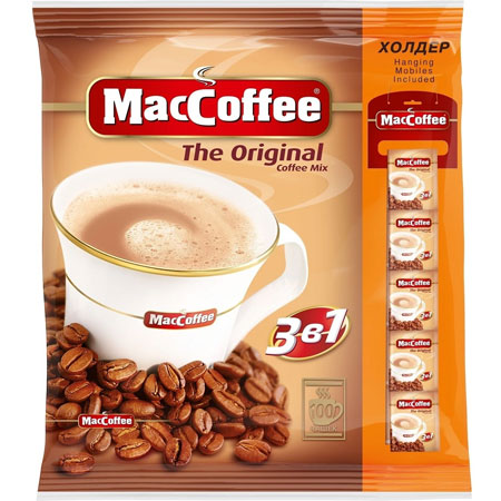 Кофе МакКофе 3в1 стрип-лента 100 пак.