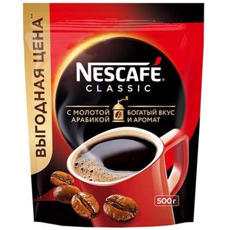 Кофе Нескафе Классик растворимый м/у 500г.