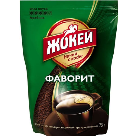 Кофе Жокей Фаворит 75 гр. м/у