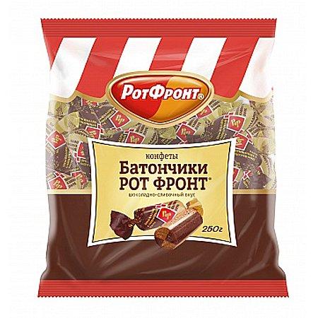 Конфеты Батончик Рот Фронт шоколадно сливочный 250г.