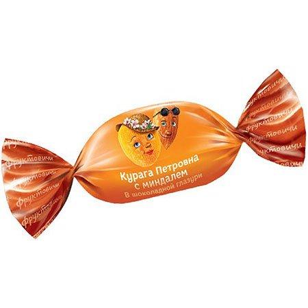 «Фруктовичи» конфета Курага Петровна с миндалём в шоколадной глазури, 1кг