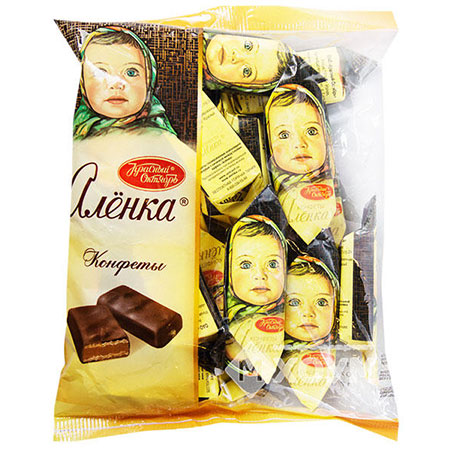 Конфеты шоколадные Алёнка фасованные, 250 гр.