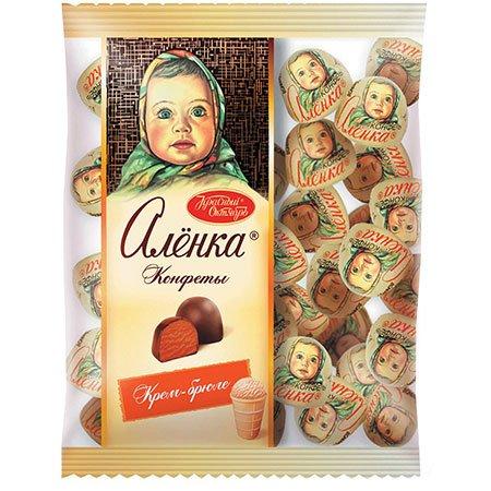 Конфеты шоколадные Алёнка Крем-брюле купол, 250 гр.