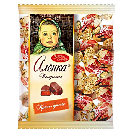 Конфеты шоколадные Алёнка Крем-брюле овал, 250 гр.