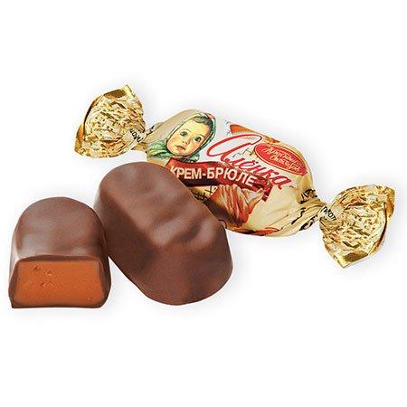 Конфеты шоколадные Алёнка Крем-брюле овал весовые, 1 кг.