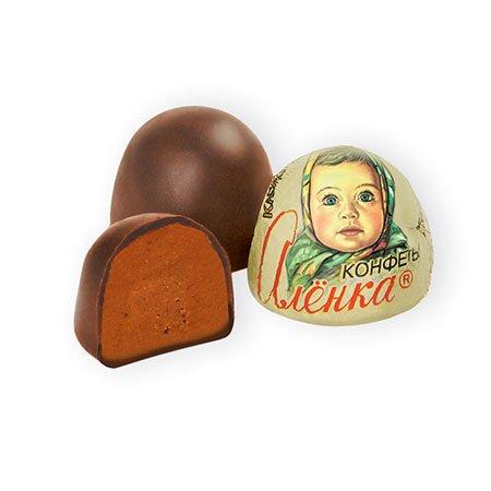 Конфеты шоколадные Алёнка Крем-брюле купол весовые, 1 кг.