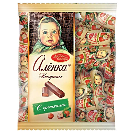 Конфеты шоколадные Алёнка с орешками, 250 гр.