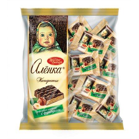Конфеты шоколадные Алёнка Вафельные с фундуком, 250гр