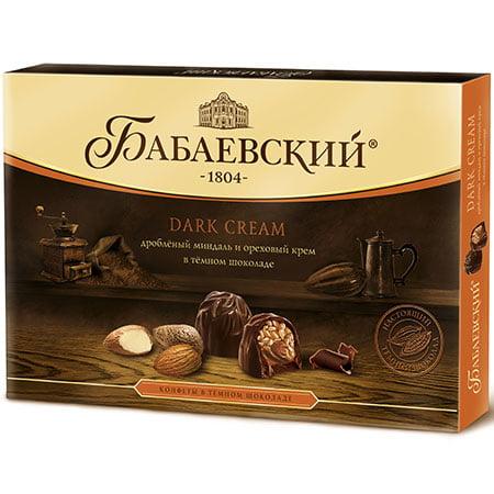 Конфеты набор Бабаевский Dark Cream миндаль 200 гр.