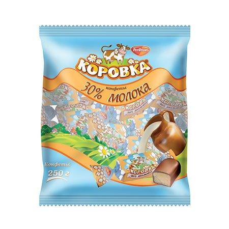 Конфеты Коровка 30% молока 250гр