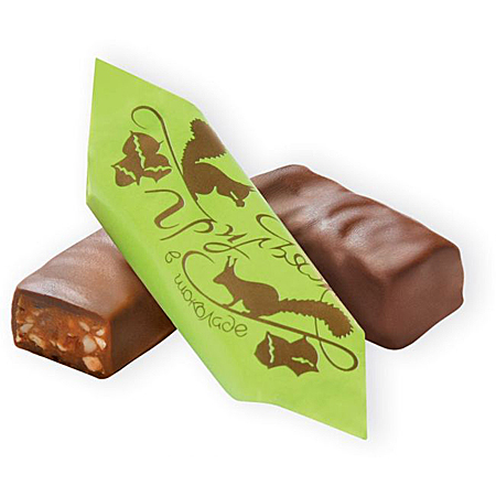 Конфеты Грильяж в шоколадной глазури 1кг