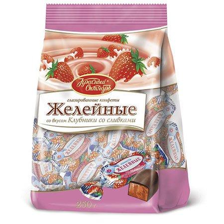 Конфеты «Желейные» со вкусом клубники 250гр