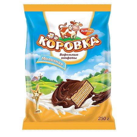 Конфеты Коровка Вафельная Молочная 250 гр