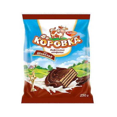 Конфеты Коровка Вафельные Шоколад 250 гр