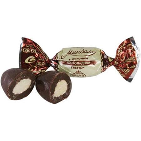 Конфеты весовые Миндаль в молочной шоколадной глазури 1кг.
