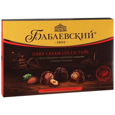 Конфеты набор Бабаевский Dark Cream Collection фундук/миндаль 200 гр.