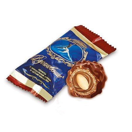 Конфеты шоколадные Вдохновение с миндалем, 1 кг.