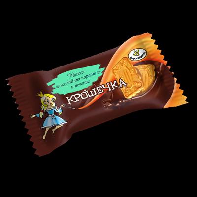 """Конфеты """"Крошечка"""" мягкая карамель и печенье (3 наименования)"""