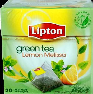Чай Липтон Зеленый Лимон Мелисса