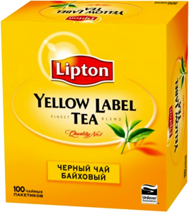 Чай Липтон Yellow Label 100 пакетиков