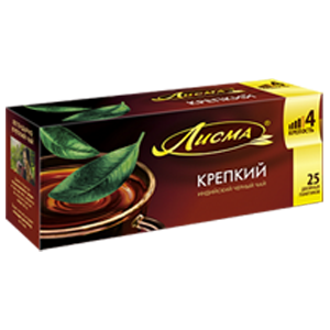 Чай Лисма Крепкий 25 пакетиков с ярлычками