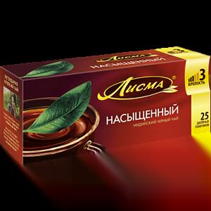 Чай Лисма Насыщенный 25 пакетиков с ярлычками
