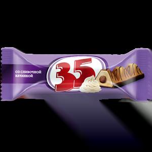 Конфеты (батончик) «35» со сливочной начинкой 2,5 кг.