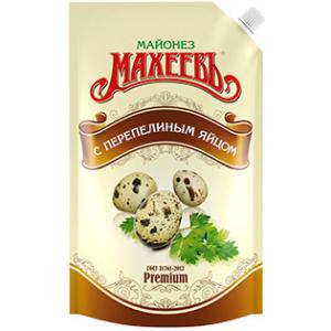 Майонез Махеевъ С перепелиным яйцом 190 гр.