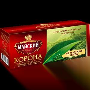 Чай Майский Корона Российской Империи 25 пакетов с ярлыками