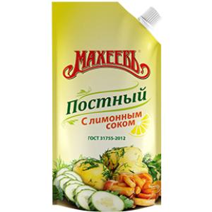 """Майонез Махеевъ """"Постный"""" с лимонным соком 190 гр."""